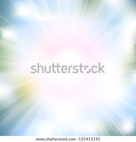 Glow rays from flare explosion background. Raster version