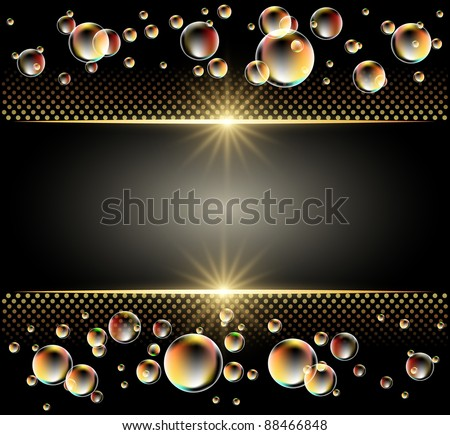 Glowing background with stars and bubbles