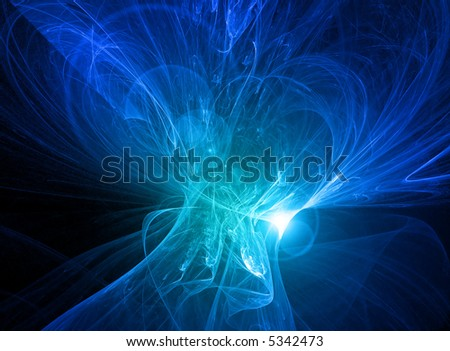 Glowing blue energy