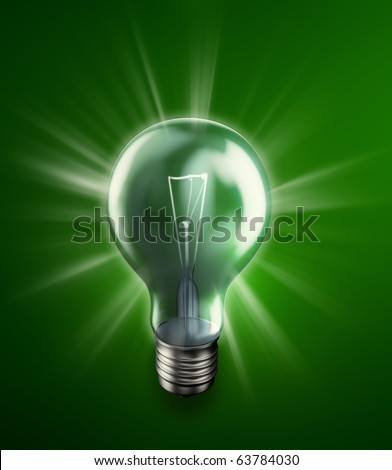 Glowing bulb -energy concept illustration