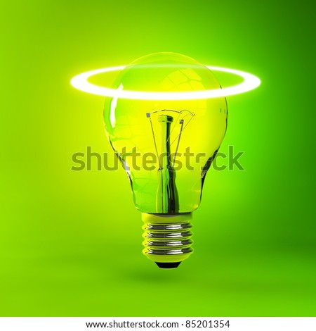 Glowing bulb - energy concept illustration
