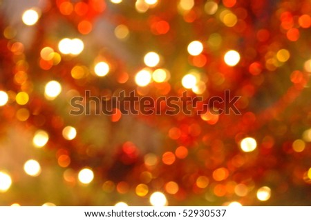 glowing Christmas lights