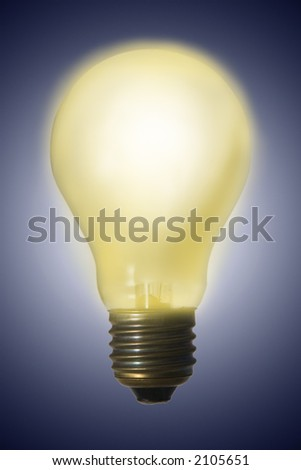 Glowing electric light bulb - great idea has born