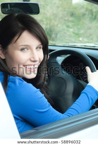 stock photo glowing female teenager sitting in her new car smiling at the camera 58896032 Police in Pennsylvania say a 34 year old man with an extensive criminal ...