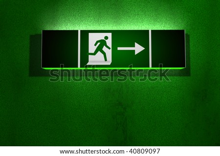 Exit Sign Word Templates Free Word Templates MS Word