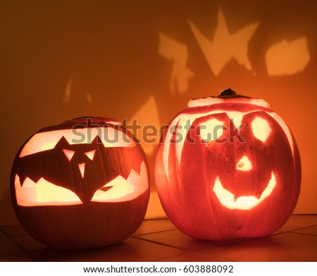 Glowing Halloween pumpkin #603888092