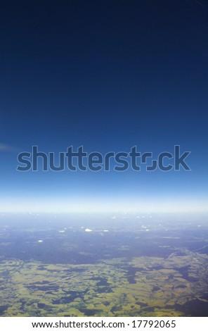 Glowing horizon line