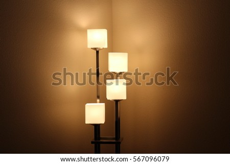 glowing lamp #567096079