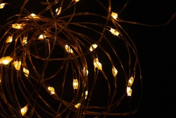 Glowing light festive christmas party decor. Luminous  background set
