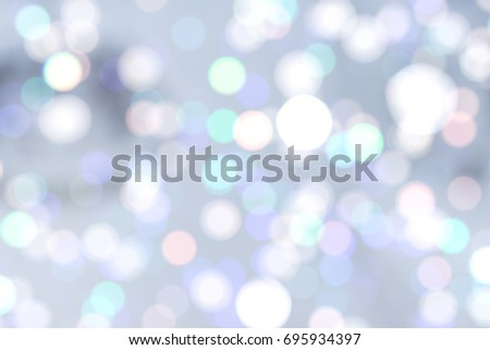 GLOWING LIGHTS ON BLUE BACKGROUND, COLD CIRCLE PATTERN, BACKDROP FOR CHRISTMAS PRESENTS #695934397
