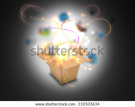 Glowing Magic box