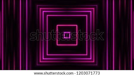 Stock Photo Glowing Neon Lights