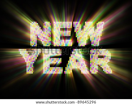 Glowing New Year Background - stock photo