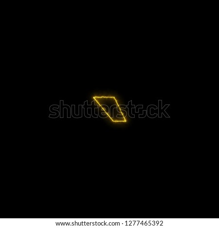 Glowing Sci Fi Alphabet: Acute, back quote, grave, grave accent, left quote, open quote, or a push Stok fotoğraf ©