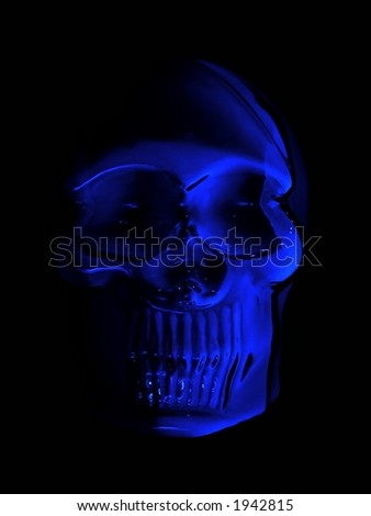 Glowing Skull - stock photo