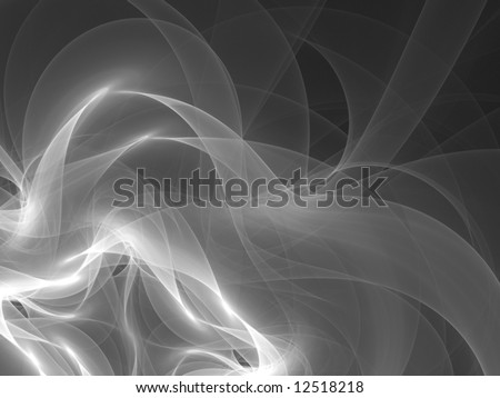 Glowing Smoke Design, Abstract CG Monochrome