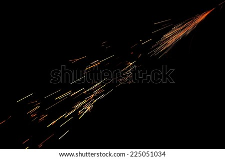 Glowing Sparks in the Dark
