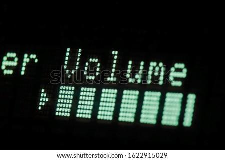 Glowing Volume indicator. audio equipment