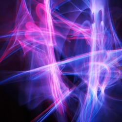 Glowsticks with a slow shutter speed to form an abstract design