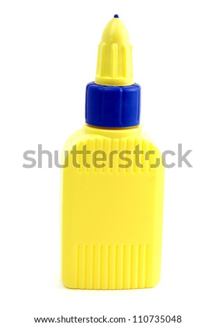 glue container isolated on a white background