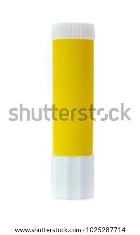 Glue stick isolated on white background