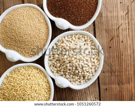 Gluten free grains  -  amaranth,  sorghum grain, teff and millet #1051260572