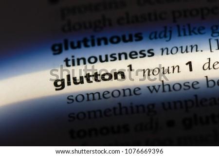 glutton glutton concept.