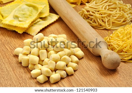 Gnocchi and other types of homemade italian pasta