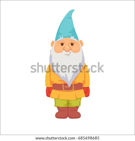 Gnomes. Funny dwarf. Fairy tale. Fantastic character set. Magical stories clip art. Cute garden decorations