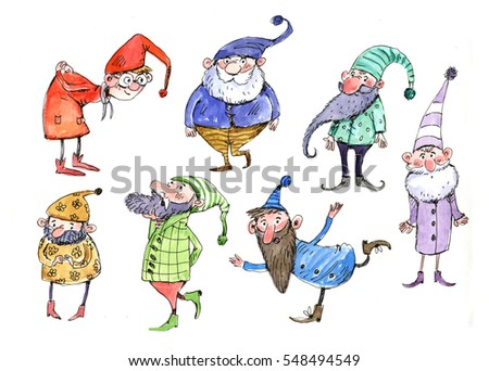 Gnomes Watercolor