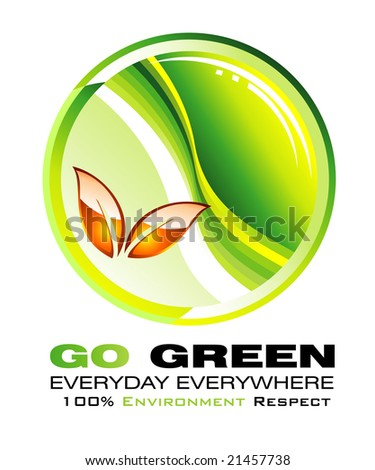 Go green and recycle concept background