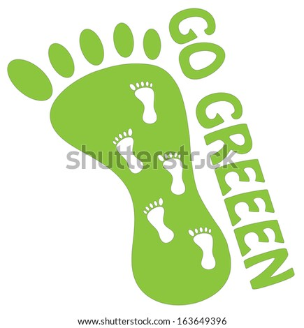 Go green concept illustration. Vector version available in my portfolio.