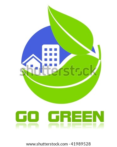 Go green icon - stock photo