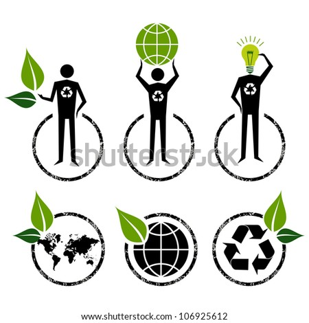 Go Green people symbol ideas.