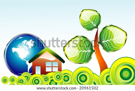Go green recycle and environment background