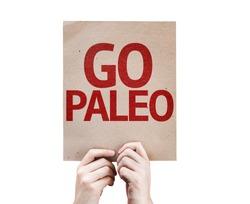 Go Paleo card isolated on white background