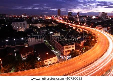 Go Through The City Of Bangkok, Bangkok-Thailand
