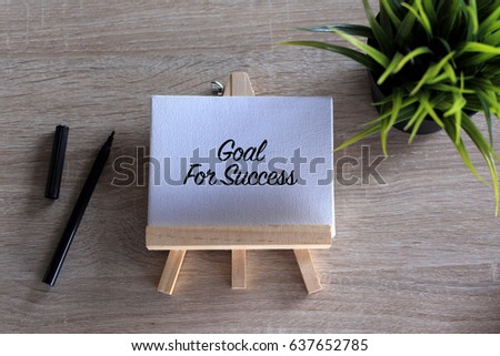 Goal for Success word concept