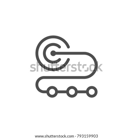 Goal line icon isolated on white