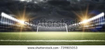 Goal post 3d rendering