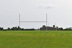 Goal post on a football field