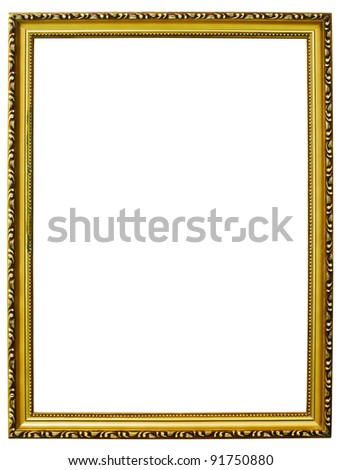 Goal wooden Photo frames isolated.