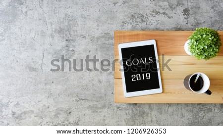 GOALS 2019 Business Concept #1206926353