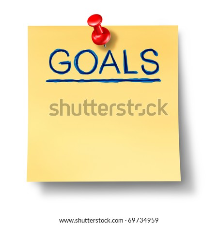 goals strategy planning office note isolated