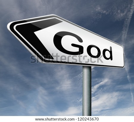 God and salvation search road to heaven religion god icon god button isolated arrow belief in the lord