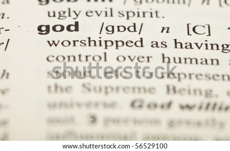 God Definition Stock Photo 56529100 : Shutterstock