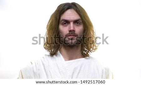 God Jesus crying for humanity sins, forgiving and saving souls, salvation