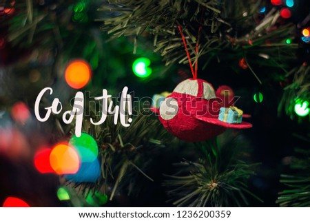 Happy New Year God Jul, Which Is Swedish Or Norwegian And Means Merry  Christmas.