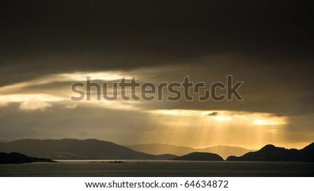 God's light, beautiful islands landscape