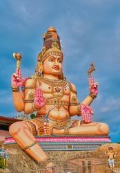 God's Shiva statue in the Hindu water at Trincomalee, Sri Lanka